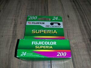 Fujicolor 110 Superia 200 Color Print Film 24 Exposures Unopened