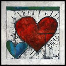 Ria heart ii póster imagen son impresiones artísticas con marco de aluminio en negro 60x60cm
