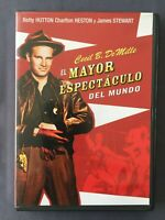 DVD EL MAYOR ESPECTACULO DEL MUNDO James Steward Charlton Heston Betty Hutton