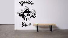 Wall Decor Vinyl Sticker Mural Decal Art Gym Fitness Club Logo Gorilla FI1163