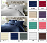 Duvet Quilted Cover Bedding Set 300TC 100% Cotton PillowCases Single Double King