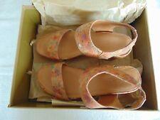 Gentle Souls Juniper Berry Cork Wedge Sandals, Floral Size 7M
