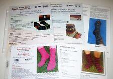 Lot of 5 SOCK Knitting Yarn Patterns by BROWN SHEEP IKNITIATIVE KOLLAGE plus