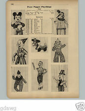 1951 PAPER AD Peter Puppet Playthings Marionettes Clarabell Clown Howdy Doody ++