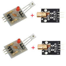 2Sets Laser Receiver Sensor Module + KY-008 Laser Transmitter for Arduino AVR