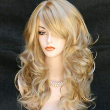 """Full Wig + Wig Cap Blonde Middle Long Curly 23"""" Women's Heat Resistant Hair"""
