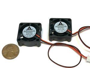 2 Pieces 24v fan gdstime blower 25x25x10mm mini micro gpu dc 2 wire usa B18