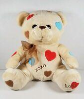 "10"" Dream Brown Teddy Bear Plush Hearts Love XOXO Bow - Free Shipping!"