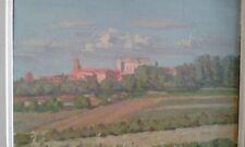 tableau ancien huile sur toile   .paysage du sud de la france