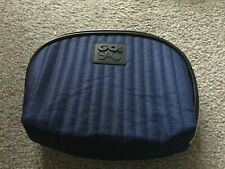 GO! SAC make up case/ zip bag quilted nylon TRAVEL BAG NAVY