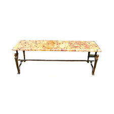 French Art Deco Iron And Marble Coffee Table C 1925