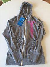 NWT Brooks Women's Rock N Roll Marathon Run Las Vegas Eco Zip Hoodie Grey XS $45