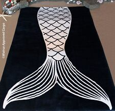 POTTERY BARN EMILY & MERITT MERMAID TAIL BEACH TOWEL -NWT- STAY ENCHANTINGLY DRY