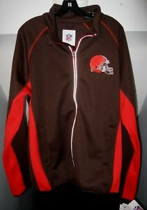 CLEVELAND BROWNS GIII-SPORTS FULL-ZIP EMBROIDERED TEAM COLORS TECH JACKET NWT