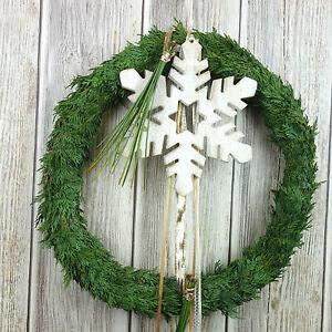 Türkranz weihnachtlich Türkränze Weihnachten Türdeko Weihnachtsdeko silber