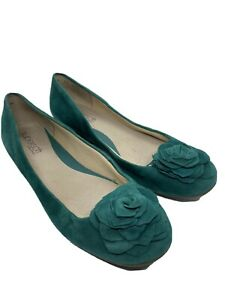 Supersoft Green Suede Comfort Shoes Size 7C