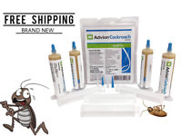 *Syngenta Cockroach Gel Bait Roach 4 Tubes with Tips and Plunger New Real