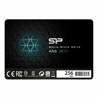 """Silicon Power 256GB SSD3D NAND A55 SLC Cache Performance Boost SATA III 2.5"""" 7mm"""