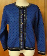 Tally Ho Beautiful Blue Wool Sweater, Size S