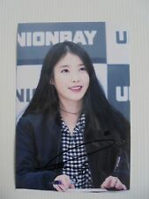 IU Lee Ji Eun KPOP Korean Actress 4x6 Photo Autograph hand signed USA Seller 37