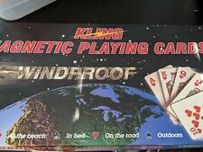 vintage KLING playing cards windproof magnetic board Boating Camping