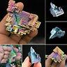 Natural Quartz Crystal Rainbow Titanium Cluster Mineral Specimen Healing Stone Q