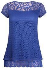 Maglie e camicie da donna blu con girocollo taglia 38