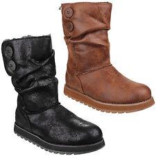 Skechers Keepsakes Esque Womens Mid Calf Memory Foam Boots Shoes UK3-8