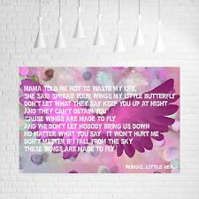 LITTLE MIX  -  WINGS  -  SONG MUSIC LYRICS CANVAS #1 ANGEL WINGS POP ART PICTURE