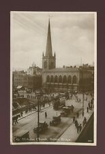 Glos Gloucestershire BRISTOL St Nicholas Church late use 1937 RP PPC KE8 stamp