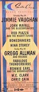 Santa Cruz Blues Festival Concert Poster 1999