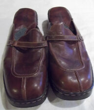 Born Brown Leather Slip-On Slides Clogs Shoes Mules Casual  Womens Size 11