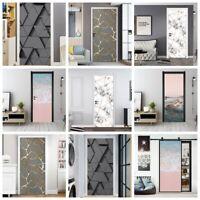 3D Mural Door Stickers PVC Self-adhesive Wall Stickers Door Decorative Stickers