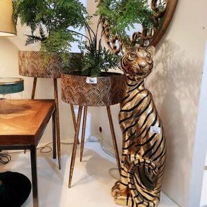 Dance Resin Gold&Black Tiger Large Decoration