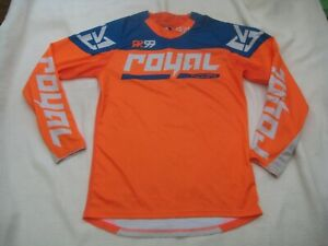 Royal Racing Long Sleeve MTB Orange Cycling Jersey - Size Medium