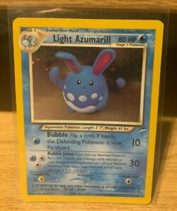 Light Azumarill Neo Genesis 13/105 Rare Holo Pokemon 2000 Very Good Condition