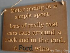 Simple Ford Wins Sign - motor sport v8 supercars nascar racing falcon signs
