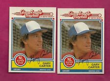 2 X 1984 TOPPS MILTON BRADLEY EXPOS GARY CARTER  NRMT+ CARD (INV# A4233)