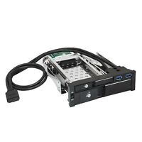 UREACH 5.25in Trayless Hot Swap Mobile Rack for 3.5in Hard Drive Internal SATA Backplane Enclosure