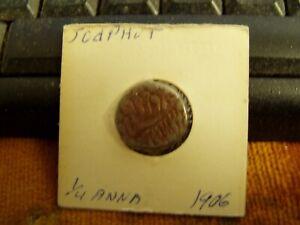 1906 India 1/4 Anna Coin,VF Condition