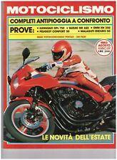 08 1983 - MOTOCICLISMO KAWASAKI GPZ 750 - SUZUKI 650 -  SWM XN 350
