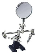 SALDATORE STAND aiutando MANI lente di ingrandimento Magnifier Coccodrillo Clip #AA