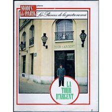La TOUR D'ARGENT de Claude TERRAIL depuis 1582 HENRI III à.. MODES de PARIS 1974