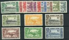 Sierra Leone 1938-44 set SG188/200 MM/MNH