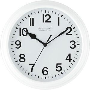 "Mainstays 8.75"" White Basic Clock"