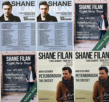 SHANE FILAN FLYERS x 6 - 2017 LOVE ALWAYS TOUR + 2016 RIGHT HERE  & 2011 TOUR