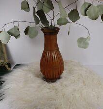 Vintage Wicker Wood Flower Vase W/ Ceramic Insert Fresh Dried Flowers Boho Decor