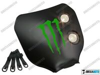 MASCHERA DOPPIO Faro NERO LOGO MONSTER Verde ENDURO CROSS MOTARD NAKED