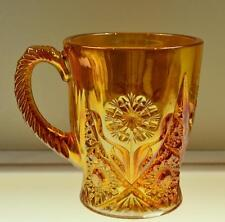 IMPERIAL COFFEE MUG Lg Marigold Carnival HOBSTAR PINWHEEL Flower * FREE USA SHIP