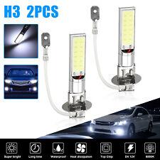 2x H3 100w Cree Led Headlight Kit Fog Light Bulbs Driving Lamp Drl 6000k White